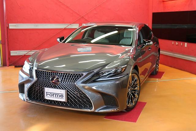 車両販売 レクサスLS500h バージョンL マンガンラスター 白革 走行3500キロの新車同様