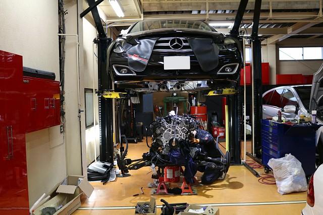 メルセデス・ベンツ R350(W251)のエンジン修理 シャフト交換