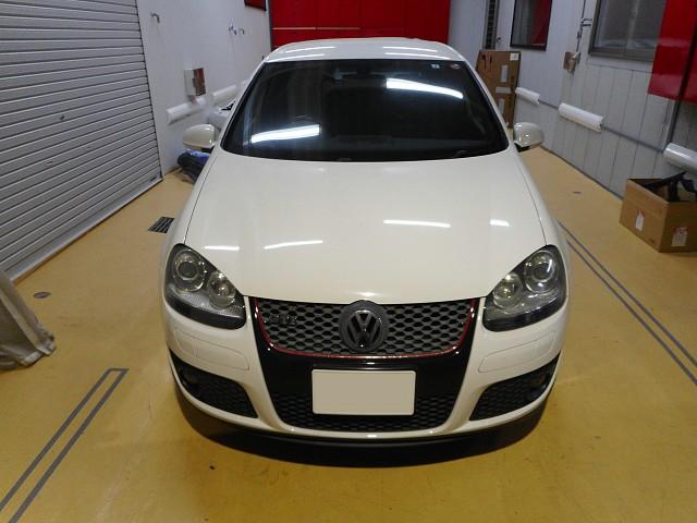 VW ゴルフ5 GTI 天井内張りの交換作業