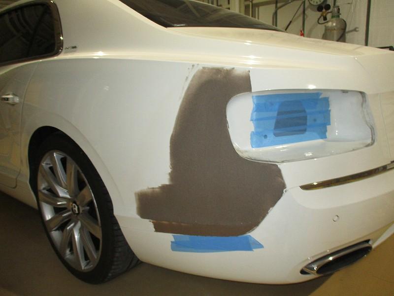 ベントレー フライングスパー W12 左リア後部修理